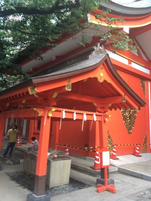 花園神社の手水舎